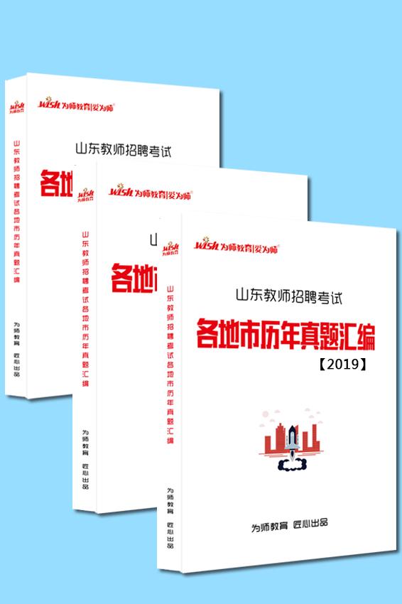 2020版(内含3本)《山东各地市历年真题汇编》2017-2019